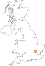 map showing location of Hall's Green, Hertfordshire