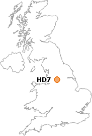 map showing location of HD7