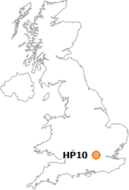 map showing location of HP10