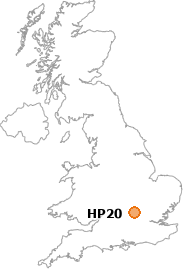 map showing location of HP20