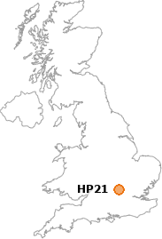 map showing location of HP21