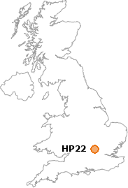 map showing location of HP22