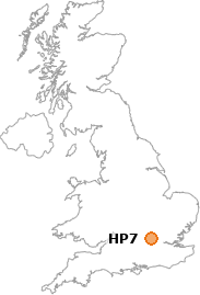 map showing location of HP7
