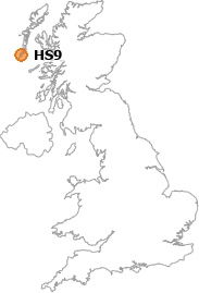map showing location of HS9