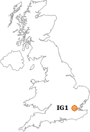map showing location of IG1