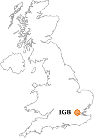 map showing location of IG8