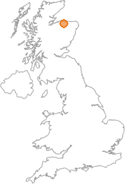map showing location of Inchberry, Moray
