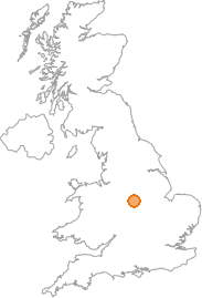 map showing location of Ingleby, Derbyshire