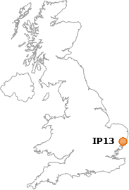 map showing location of IP13