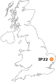 map showing location of IP22