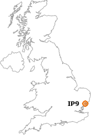 map showing location of IP9