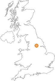 map showing location of Kiddal Lane End, West Yorkshire