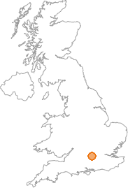 map showing location of Kidmore End, Oxfordshire
