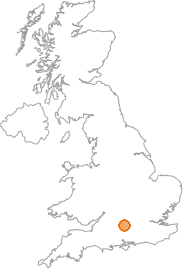 map showing location of Kingsclere, Hampshire