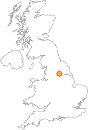 map showing location of Kippax, West Yorkshire