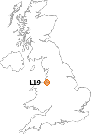 map showing location of L19