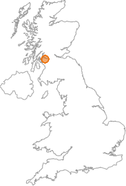 map showing location of Langbank, Renfrewshire