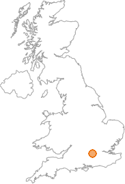 map showing location of Maiden's Green, Berkshire
