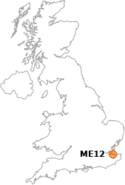 map showing location of ME12