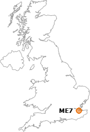 map showing location of ME7