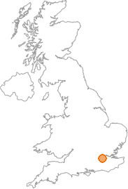 map showing location of Merton, Greater London