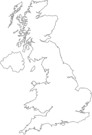 map showing location of Mid Yell, Shetland Islands