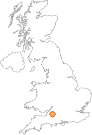 map showing location of Midford, Bristol Avon