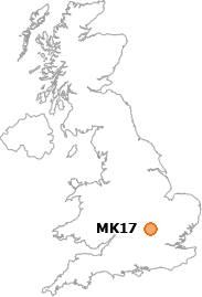map showing location of MK17
