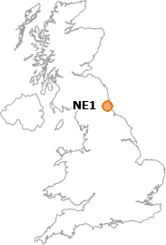 map showing location of NE1