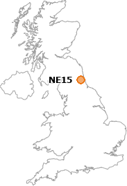map showing location of NE15