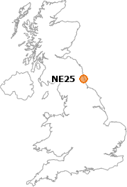 map showing location of NE25