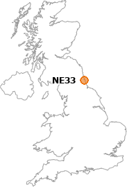 map showing location of NE33