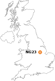 map showing location of NG23