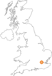 map showing location of North End, Greater London