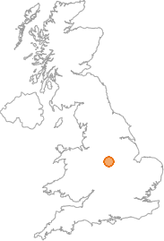 map showing location of Osmaston, Derby