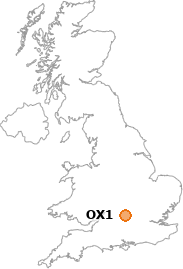 map showing location of OX1