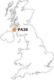 map showing location of PA28