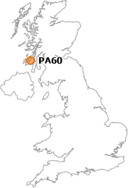 map showing location of PA60