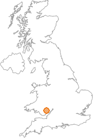 map showing location of Penperlleni, Monmouthshire