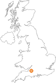 map showing location of Radstock, Bristol Avon