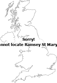 map showing location of Ramsey St Mary's, Cambridgeshire