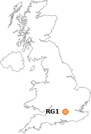map showing location of RG1