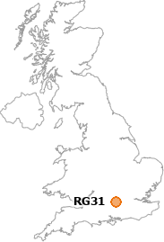 map showing location of RG31
