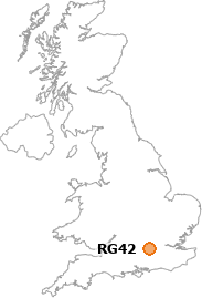 map showing location of RG42