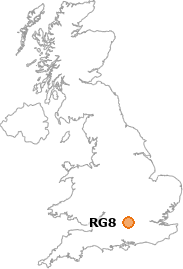 map showing location of RG8