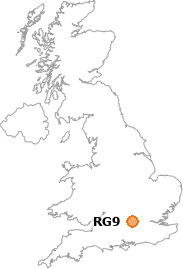 map showing location of RG9