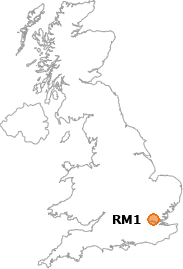map showing location of RM1