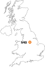 map showing location of S40