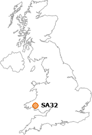 map showing location of SA32