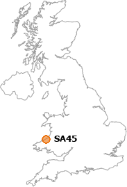 map showing location of SA45